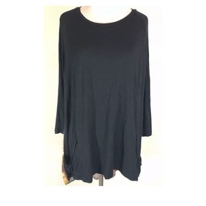 Logo by Lori Goldstein Top Semi Sheer with Pockets